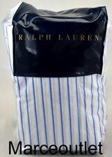 Ralph Lauren Prescot Stripe Cal. King Fitted Sheet Summer Blue / White