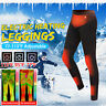 Heated Warm Pants Trousers Winter Hiking Ski Heating Pants Women&Men USB Charge