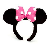 DISNEY MINNIE MOUSE EARS 3D PLUSH MICKEY COSTUME FANCY DRESS BRAND NEW UK