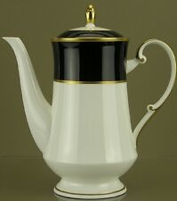 Cathy Hardwick, Mikasa Bone China, Onyx (A6700) Pattern, Coffee Pot w/Lid-[0044]