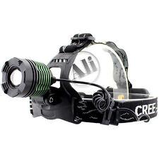 New 1600LM CREE XM-L T6 LED Zoom Headlamp Headlight Adjustable Green Zoom Lamp