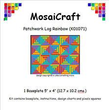 """KIT mosaicraft pixel Craft """"Patchwork log Rainbow 'pixelhobby"""