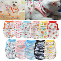 Pet Dog Clothes for Puppy Cat Summer Dog Vest Small Dogs Cotton Clothing t Shirt