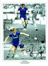 Gary STEVENS EVERTON Legend Signed Autograph 16x12 Montage Photo AFTAL COA