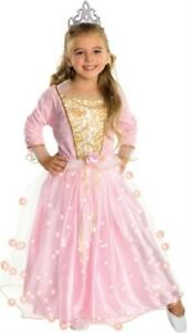 Child's Rose Princess Costume with Fiber Optic Light Twinkle Skirt S(4-6)