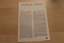 67053) Opel Omega 3000 - technische Daten & Ausstattungen - Prospekt 03/1987