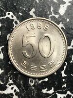 1989 Korea 50 Won Lot#L1862 High Grade! Beautiful!