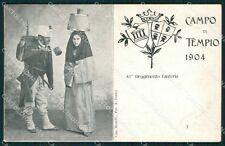 Sassari Olbia Tempio Pausania Costumi Militari cartolina QT2400