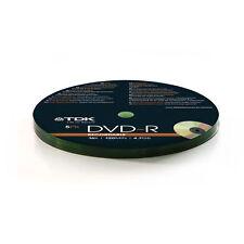 5 X TDK DVD-R Vuoto Dischi Registrabile 4.7gb 16x 120 min in continuo-NUOVO