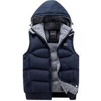 New Hooded Jacket Cotton-Padded Men's Vest Sleeveless coat Winter Coats Male