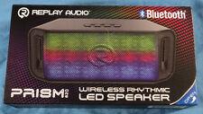 Replay Audio Prism One Wireless Rhythmic LED Portable Speaker RPA-BTLED1BK, New