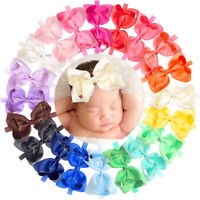 20 Colors Baby Girls headbands 6 inch Hair Bows Grosgrain Ribbon Soft Headbands