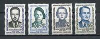 22235) France 1958 MNH New' Heros De The Resistance' 4v
