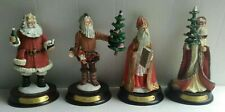 Lot of 4 Duncan Royale History of Santa Claus Figurines - Collectors 2nd Edition