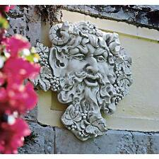 "Design Toscano 19"" Bacchus God Of Wine Greenman Indoor Outdoor Wall Sculpture"