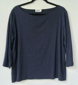MELA PURDIE navy blue 3/4 sleeve top Size 16