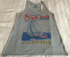 SAILING AWAY CALIFORNIA Gray Tank-Top T-Shirt, Size Adult Med - Bear Dance