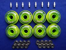 Indoor Rollerblade Inline Hockey Skate Wheels 72mm 74A  ABEC 9 Bearings Spacers