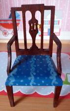 Rare Vintage Tynietoy Blue Painted Sheraton Mt. Vernon Chair Dollhouse Miniature
