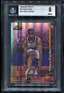 1998 Topps Finest Refractor #230 Vince Carter BGS 8 NM RC Rookie Comp to PSA