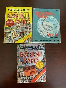 The Official Baseball Cards Price Guide - Lot of 3 vintage books -1982 1984