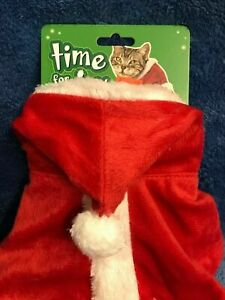 Time For Joy Santa Claus Costume For Cats One Size