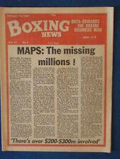 Boxing News Magazine - 13/2/81 - Maps Cover