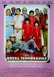 Ben Stiller Bill Murray Gene Hackman DIE ROYAL TENENBAUMS Filmplakat A1 GEROLLT