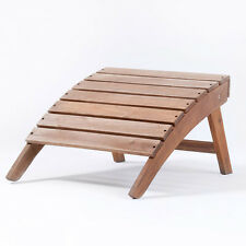 Wooden Garden Stool Adirondack Hardwood Outdoor Folding Footstool Plant Theatre