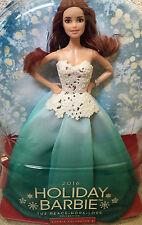 2016 Barbie Christmas Holiday Auburn Hair Aqua Dress RARE K Mart Exclusive