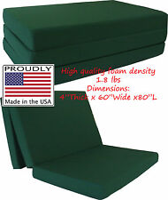 "Queen Size Hunter Trifold Floor Foam Beds 4""x60""x80"" Foldable foam Ottoman Bed"