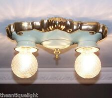 627 Vintage 30s 40s  Ceiling Light Lamp Fixture  bath hall German porclain