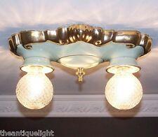 627 Vintag 40s Ceiling Light Lamp Fixture bath hall porclain Porcelier