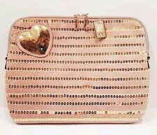 JUICY COUTURE PINK VELOUR & GOLD SEQUIN HEART LAPTOP CASE BRAND NEW WITH TAGS!
