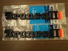 NOS OEM Ford 1983 1984 1985 Bronco II 2 Fender Emblems Ornaments Pair 1986 1987