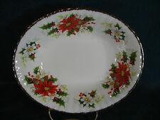 """Royal Albert Yuletide / Poinsettia Christmas 9"""" Oval Vegetable Serving Bowl"""