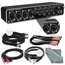 Behringer U-PHORIA UMC404HD USB 2.0 Audio/MIDI Interface and Accessory Bundle w/