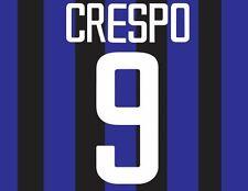 Crespo #9 Inter Milan 2002-2003 Home Football Nameset for shirt