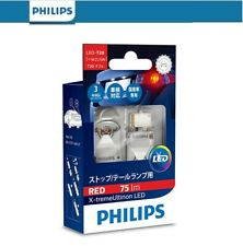 Philips X-tremeUltinon LED Car Signal STOP Bulb Pair Bright RED 12v W21 5W T20