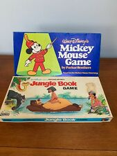 Jungle Book Game & Mickey Mouse Game, Parker Brothers