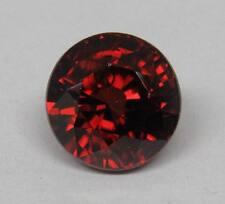 Natural Red Zircon 9.65 Ct. Round 11mm Deep Red Orange
