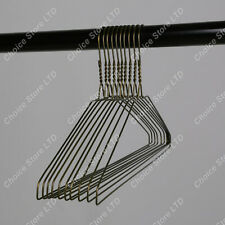 Upto 200 Strong Hangers Bronze Metal Wire Clothes Coat Trouser Bar 40cm T Shirt