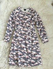 NWT $450 JCrew Collection Thistle Floral Dress Sz 000 Grey Multi E2326 SOLD-OUT