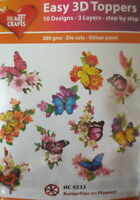 Easy 3D Die Cut Card Toppers Birds Butterflies 10 Designs New
