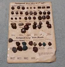 Antiqued Metalized Beads Crafts on Display Card