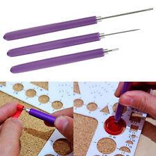 3 Stück Quilling Papier Werkzeug Schlitz Slotted Stift Origami Bastel Pop.
