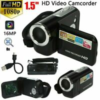 "FULL HD 1080P 16MP 1.5/2.4"" 16X ZOOMs Handheld Digital Video DV Camera Camcorder"
