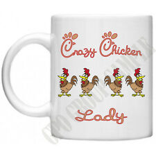 Crazy Chicken Lady Farm Animals Novelty Mum Mom Gifts For Her Tea Coffee Mug
