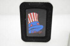 Vintage Liberty Cigarette Lighter In Harley Davidson Case