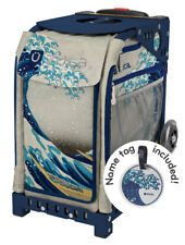 ZUCA Bag GREAT WAVE Insert & Navy Blue Frame w/Flashing Wheels - FREE CUSHION